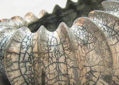 Ceramic Piece Shaped Beige And Gray Worm