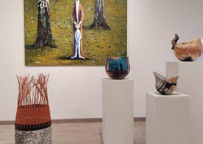 Exhibition Of Four Ceramic Pieces