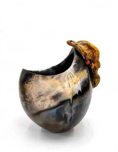 Ceramic Object, Smoke Firing and Driftwood