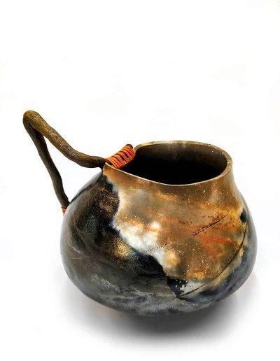 Ceramic Object - Smoke Firing and Driftwood