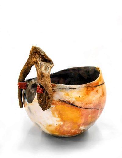 Ceramic Object, Smoke Firing & Driftwood