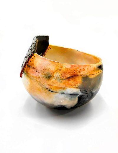 Ceramic Object, Raku and Smoke Firing